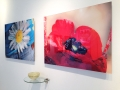Ink jet prints mounted on acrylic and resin sculpture installed at Rymer Gallery
